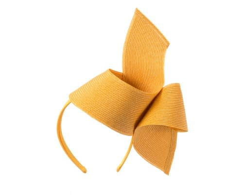 Fascinators Online - Stylish mustard Australian Made racing fascinator by Max Alexander 2