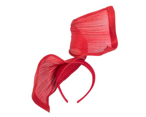Fascinators Online - Red twisted jinsin fascinator by Fillies Collection 4