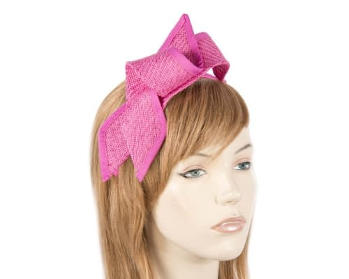 Fuchsia racing bow fascinator by Max Alexander