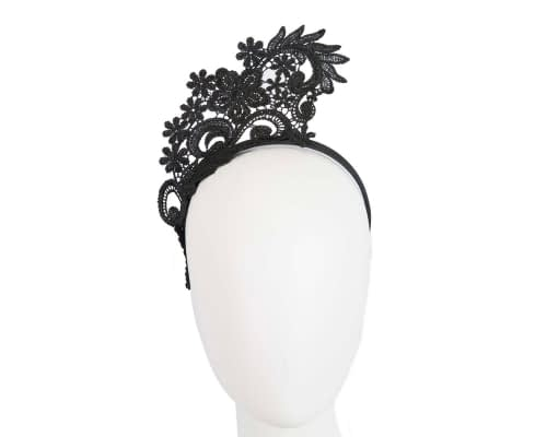Fascinators Online - Black lace crown racing fascinator by Max Alexander 12