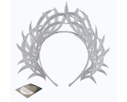 Fascinators Online - Silver lace crown 3