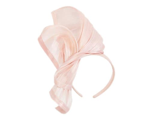 Fascinators Online - Pink twists of silk abaca fascinator by Fillies Collection 2