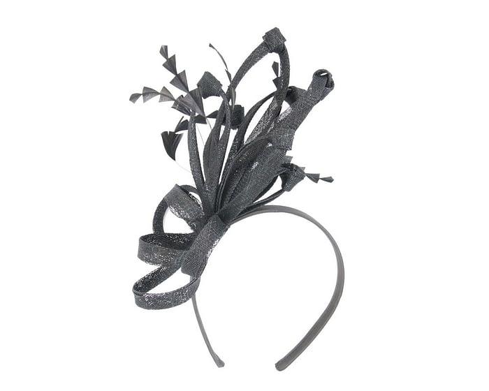 Fascinators Online - Black spiky sinamay racing fascinator by Max Alexander 2