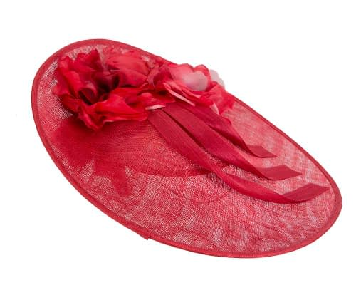 Fascinators Online - Large red plate racing fascinator by Fillies Collection 4