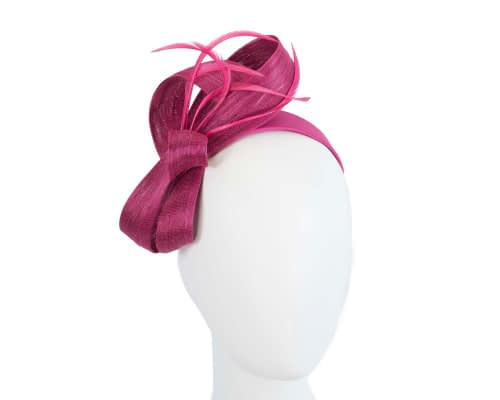 Fascinators Online - Fuchsia loops headband fascinator by Fillies Collection 21