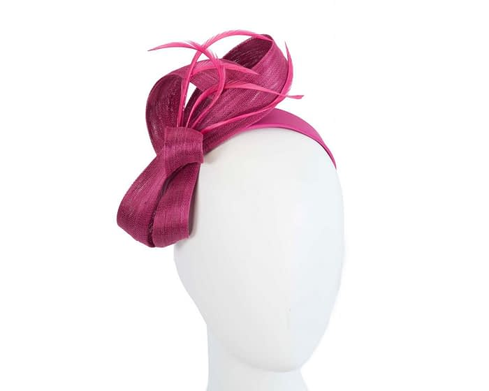 Fascinators Online - Fuchsia loops headband fascinator by Fillies Collection 1