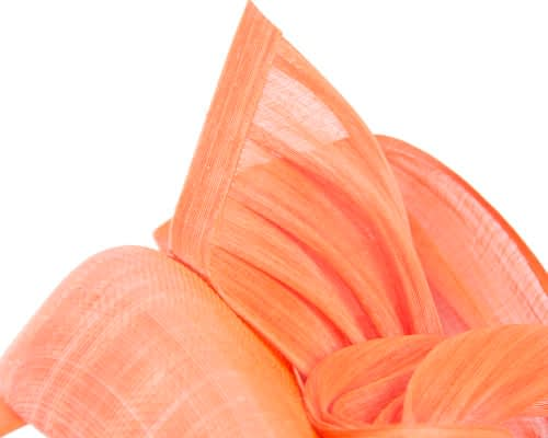 Fascinators Online - Orange pillbox fascinator with silk bow by Fillies Collection 3
