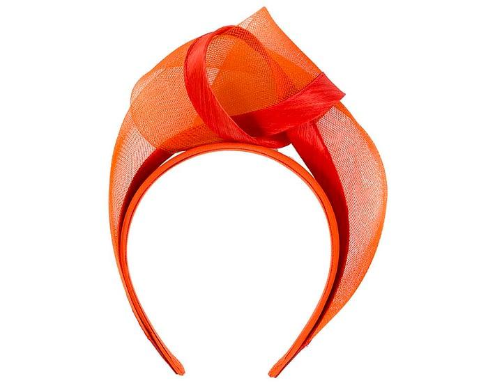 Fascinators Online - Orange turban headband by Fillies Collection 4