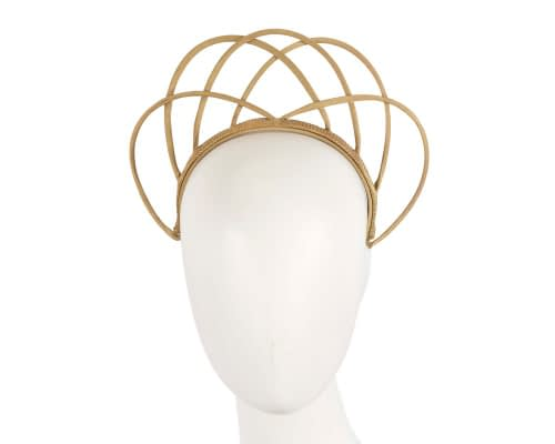 Fascinators Online - Gold crown racing fascinator by Max Alexander 20