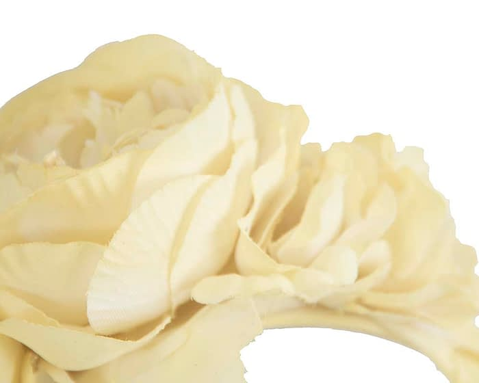 Fascinators Online - Yellow flower headband fascinator by Max Alexander 3