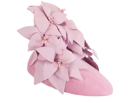 Fascinators Online - Lilac leather flower pillbox fascinator by Fillies Collection 5