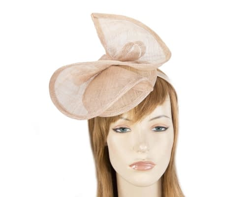 Fascinators Online - Nude sinamay racing fascinator by Max Alexander 22