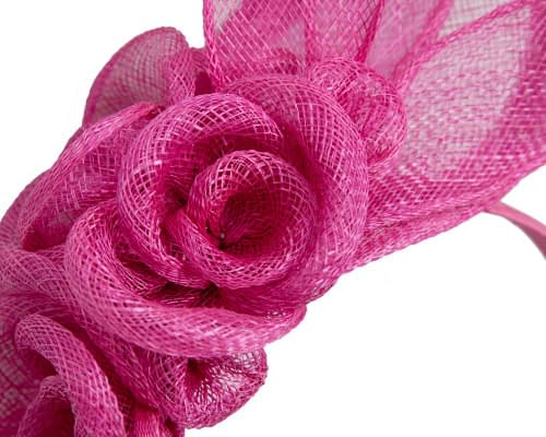 Fascinators Online - Large fuchsia flower headband fascinator by Max Alexander 3