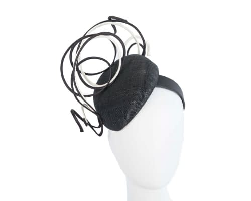 Fascinators Online - Designers black & white racing fascinator by Fillies Collection 47
