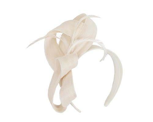 Fascinators Online - Cream loops headband fascinator by Fillies Collection 2