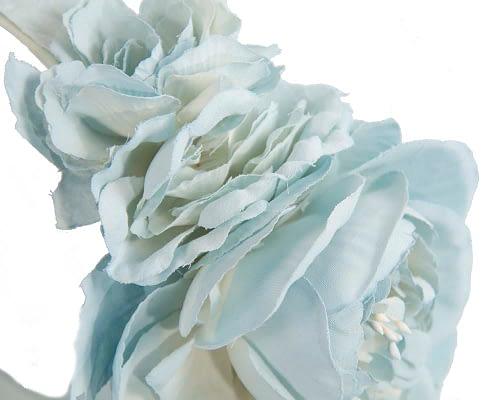 Fascinators Online - Light blue flower headband fascinator by Max Alexander 3