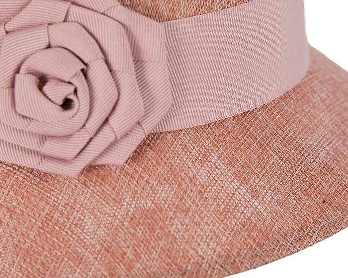 Fascinators Online - Dusty pink spring racing bucket hat 4