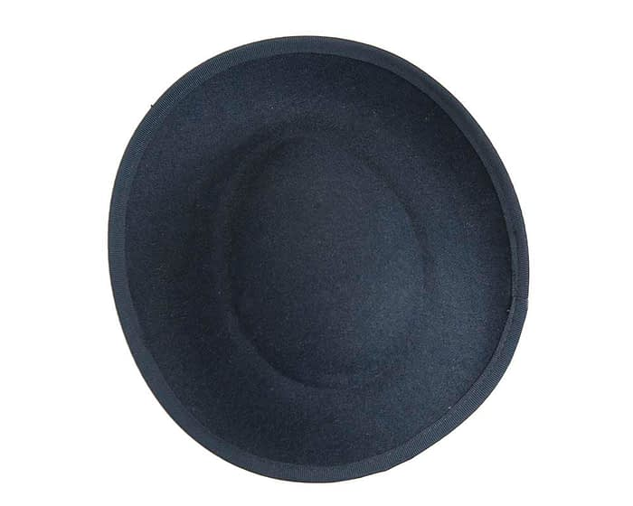 Fascinators Online - Large navy plate with flowers by Fillies Collection 5