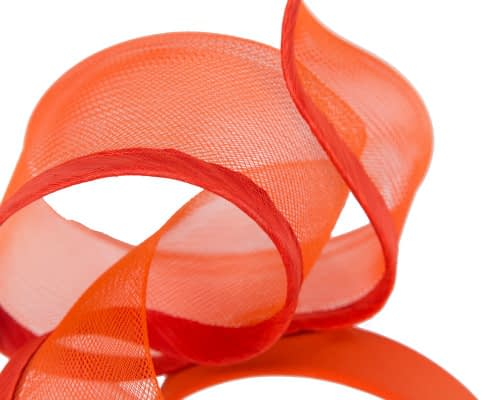 Fascinators Online - Twisted orange racing fascinator by Fillies Collection 3