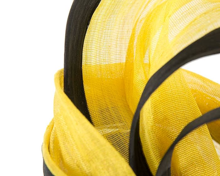 Fascinators Online - Tall black & yellow designers fascinator by Fillies Collection 5