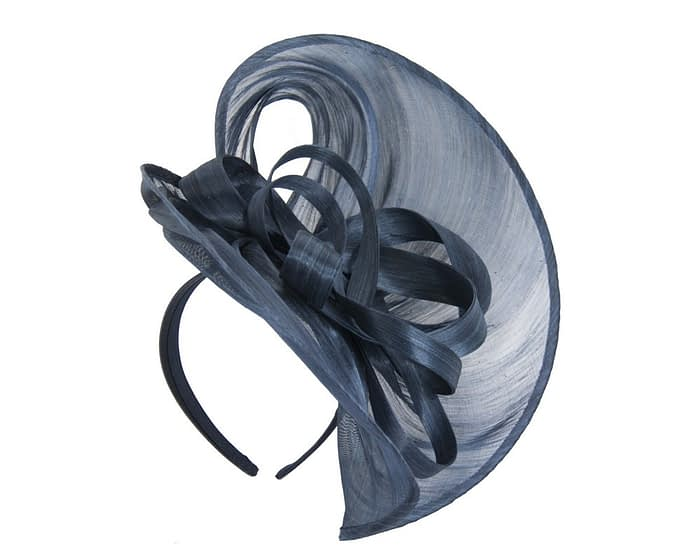 Fascinators Online - Large navy heart fascinator by Fillies Collection 2