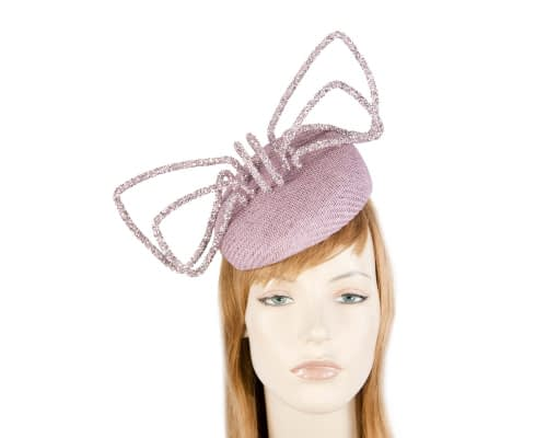 Fascinators Online - Bespoke lilac pillbox with bow by Fillies Collection 17