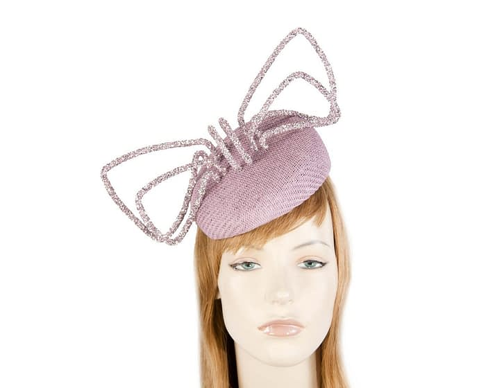 Fascinators Online - Bespoke lilac pillbox with bow by Fillies Collection 1