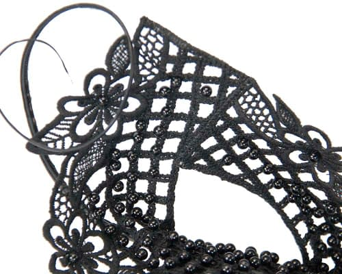 Fascinators Online - Black lace pillbox fascinator by Fillies Collection 3