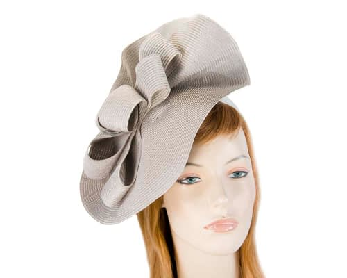 Fascinators Online - Large silver fascinator with loops by Max Alexander 1