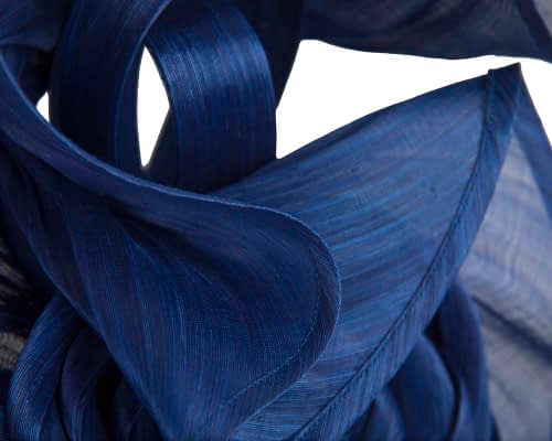 Fascinators Online - Royal blue sculptured silk abaca fascinator by Fillies Collection 3