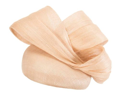 Fascinators Online - Nude pillbox fascinator with large bow by Fillies Collection 2