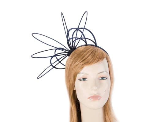 Fascinators Online - Unusual navy fascinator by Max Alexander 6