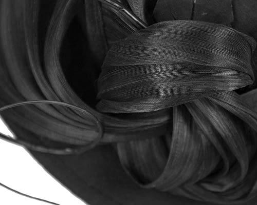 Fascinators Online - Exclusive black felt trilby hat by Fillies Collection 5