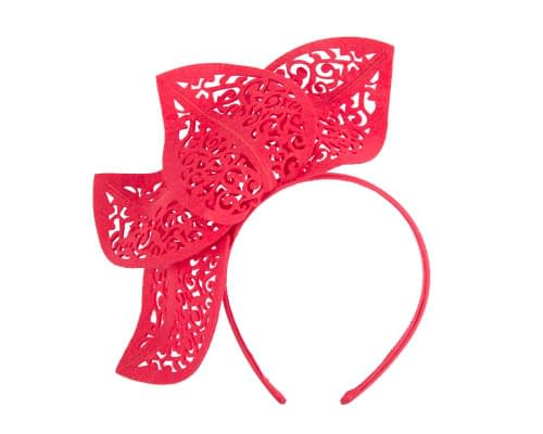 Fascinators Online - Red laser-cut racing fascinator 2
