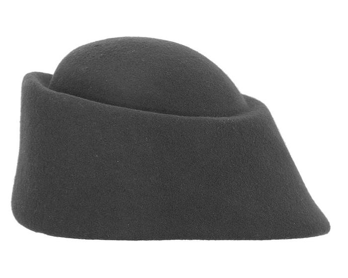 Fascinators Online - Designers black felt hat 6