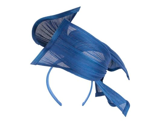 Fascinators Online - Twisted royal blue jinsin racing fascinator by Fillies Collection 5