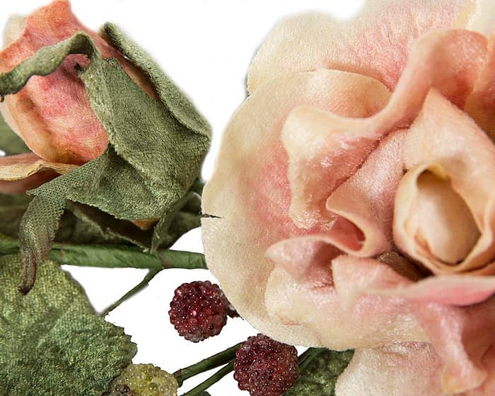 Craft & Millinery Supplies -- Trish Millinery- FL54 peach closeup
