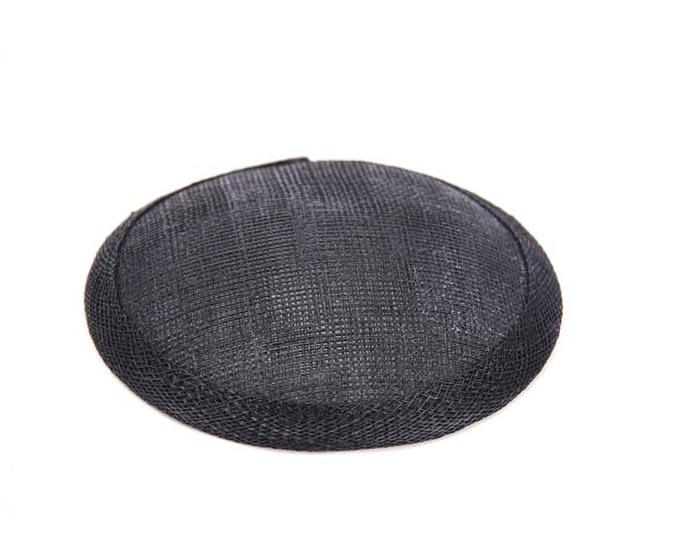 Craft & Millinery Supplies -- Trish Millinery- 12mm black round sinamay fascinator base