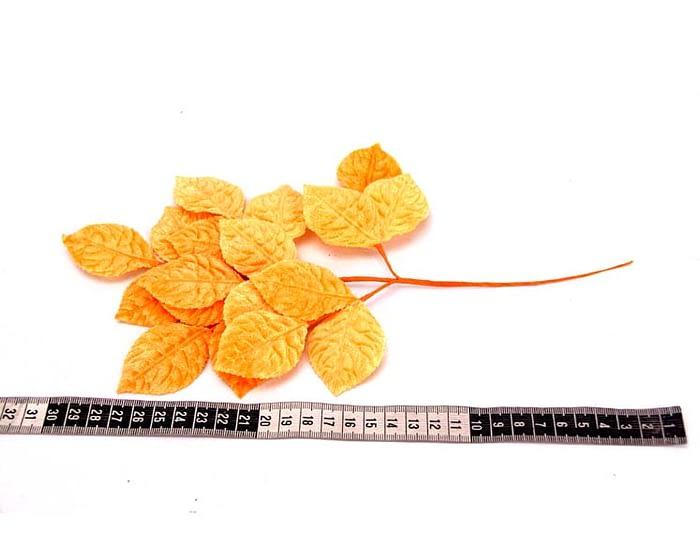 Craft & Millinery Supplies -- Trish Millinery- orange velvet leaves