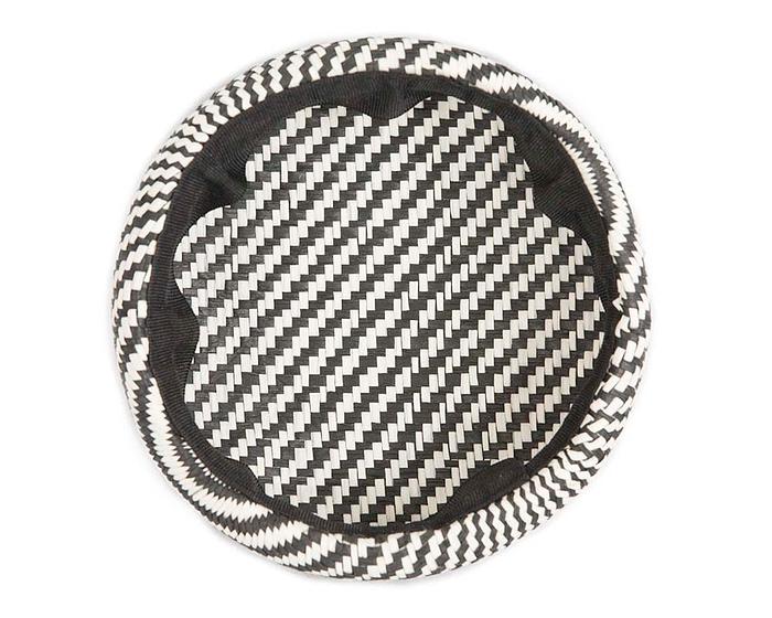 Craft & Millinery Supplies -- Trish Millinery- SH6 white black back