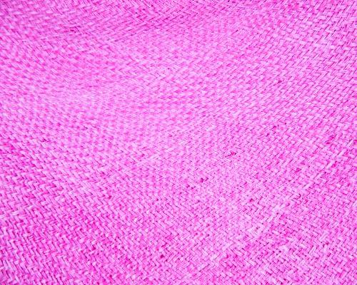 Craft & Millinery Supplies -- Trish Millinery- hood sisal fuchsia closeup