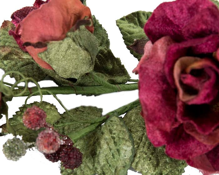 Craft & Millinery Supplies -- Trish Millinery- FL54 burgundy closeup