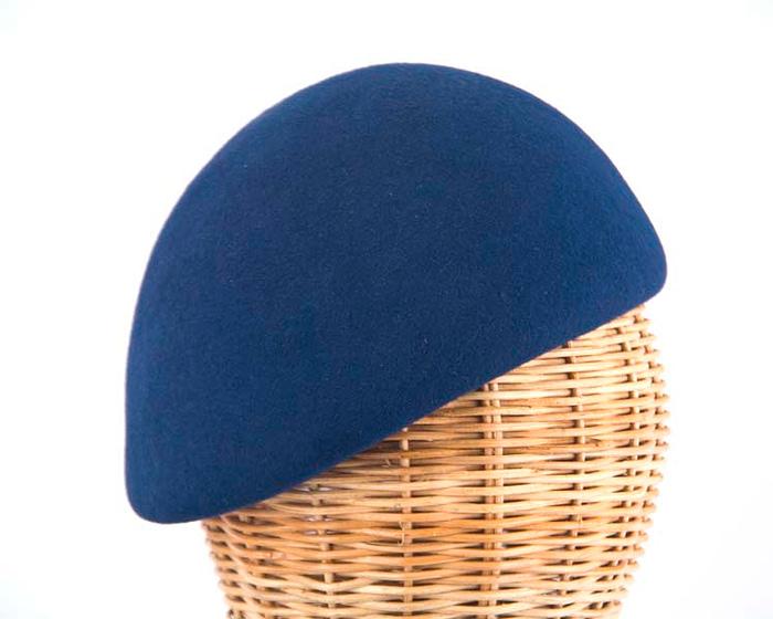 Craft & Millinery Supplies -- Trish Millinery- navy felt beret hat shape