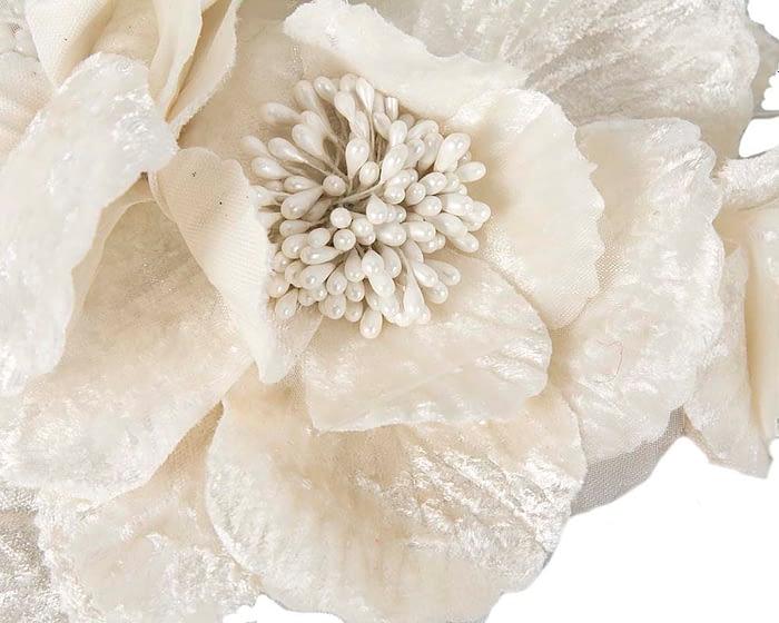 Craft & Millinery Supplies -- Trish Millinery- FL44 cream closeup