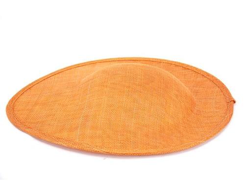 Craft & Millinery Supplies -- Trish Millinery- orange large saucer oval sinamay blocked fascinator base