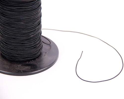 Craft & Millinery Supplies -- Trish Millinery- black elastic band