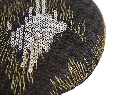Craft & Millinery Supplies -- Trish Millinery- SH3 black closeup