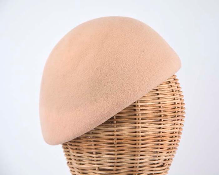 Craft & Millinery Supplies -- Trish Millinery- beige felt beret hat shape