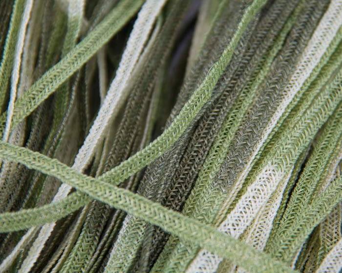 Craft & Millinery Supplies -- Trish Millinery- hemp braid green1