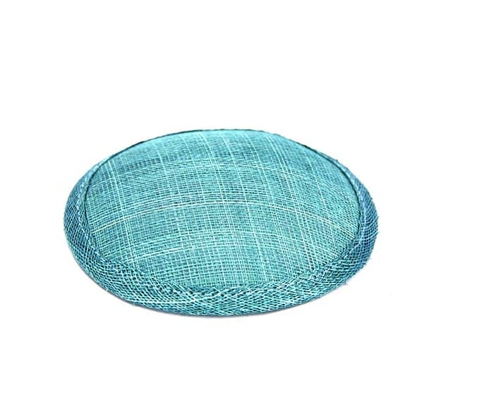 Craft & Millinery Supplies -- Trish Millinery- 12mm turquoise round sinamay fascinator base
